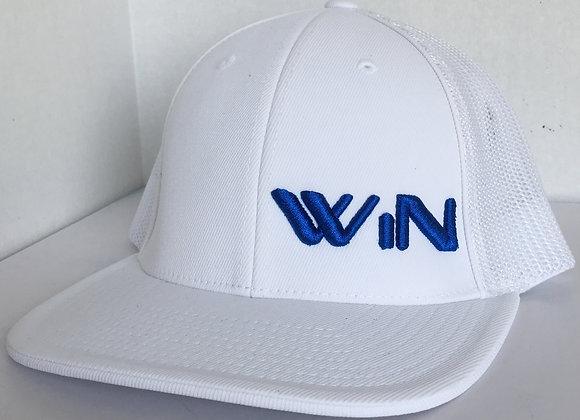 White/White Trucker Mesh WiN