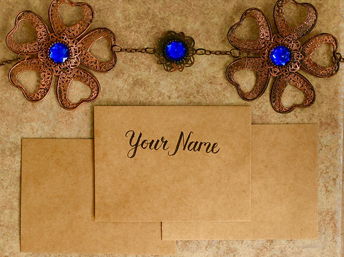 Hand lettered Name on Envelope, A6 Size