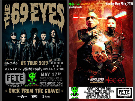 Two awesome shows coming up in May...
