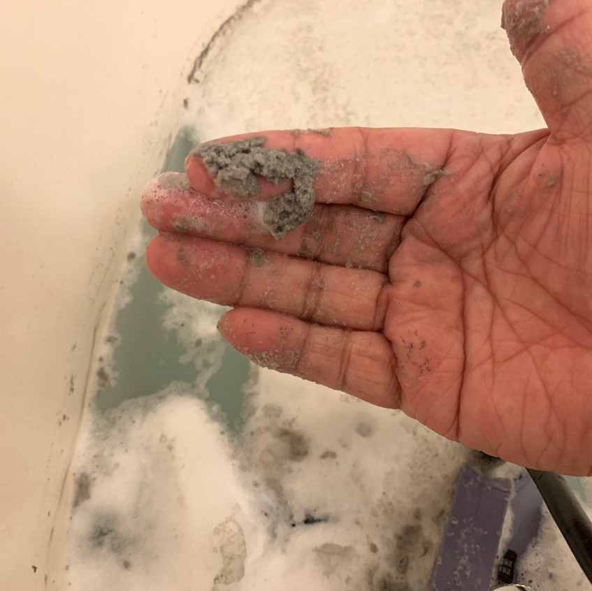 追い焚き配管の汚れ