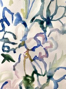 "WATERCOLOUR - ""GARDEN FLOWERS"""