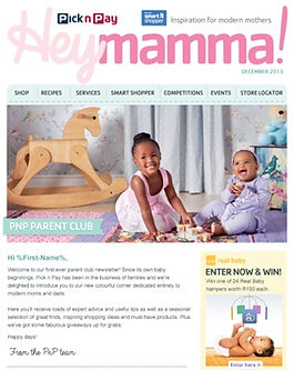 Pick n Pay Baby newsletter