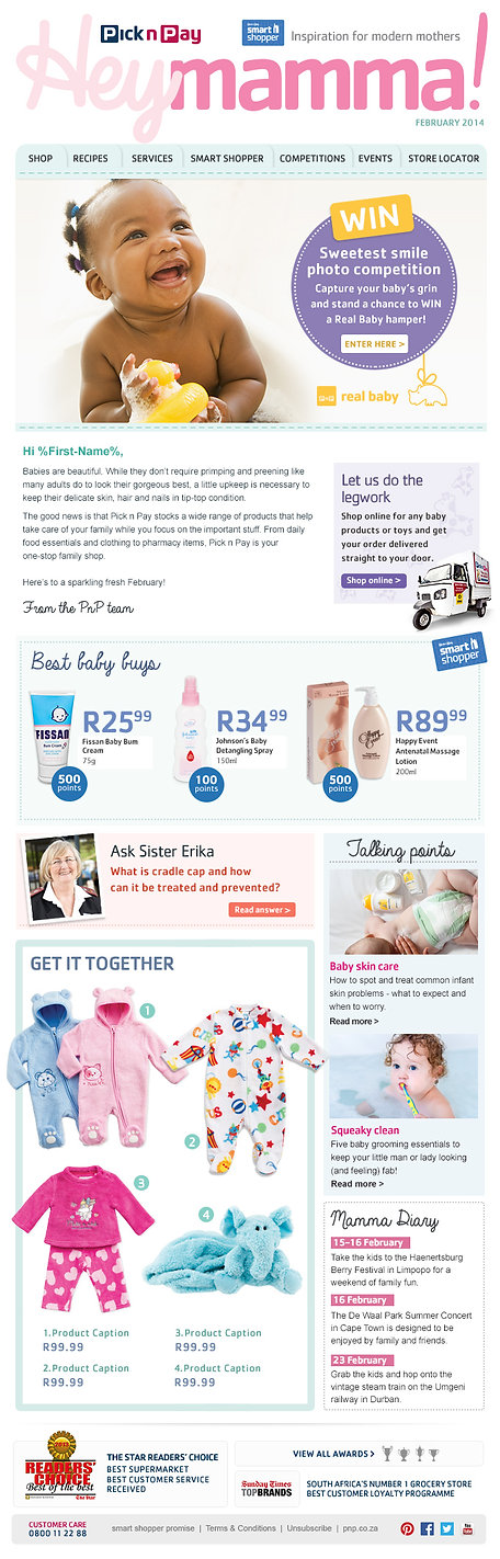 Pick n Pay Baby Feb newsletter