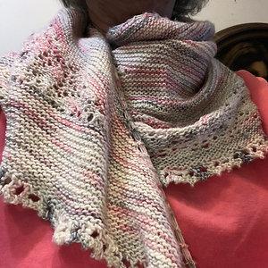 Merino/silk/cashmere shawl