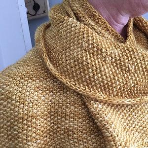 Yellow merino scarf