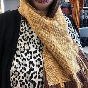 Handwoven alpaca/silk/tencel scarf