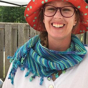 Cotton bobble scarf