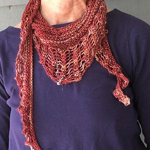 Mohair/silk scarf