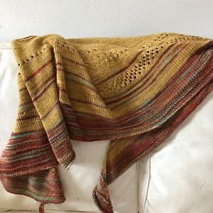 Silk/seasilk shawl