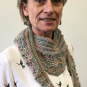 Merino/silk scarf
