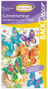BackDecor Schmetterlinge aus Oblaten bunt