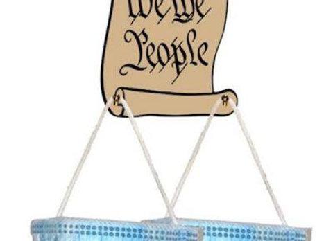 We the People Ornamental Mask Holder