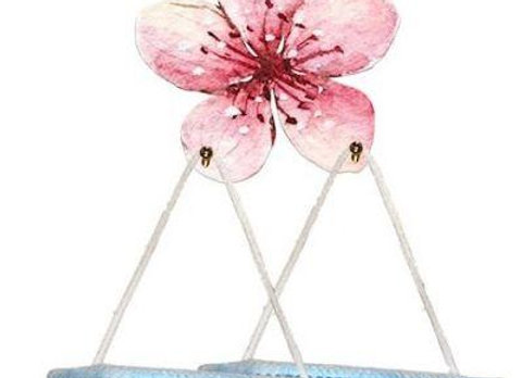 Cherry Blossom Ornamental Mask Holder