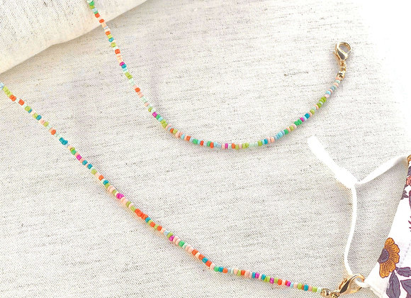 Pastel Beads Face-Mask Necklace / Lanyard