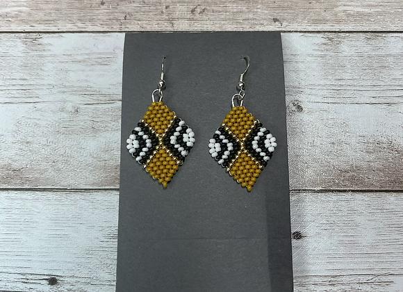 Gold Beaded Earrings