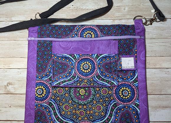 Purple Matching bag and Mask Set