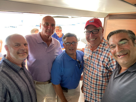Leaders of Associated Builders and Contractors, Inc. enjoy a day on the water.