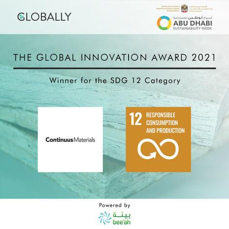 Continuus Materials - SDG 12 Winner - GI