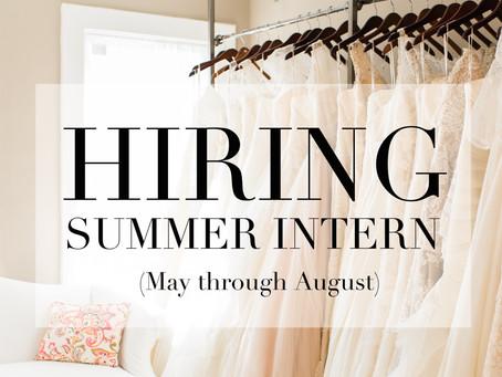 HIRING! Summer Intern