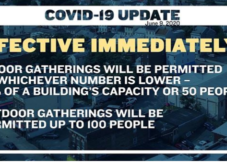 BREAKING NEWS on Indoor and Outdoor Gatherings