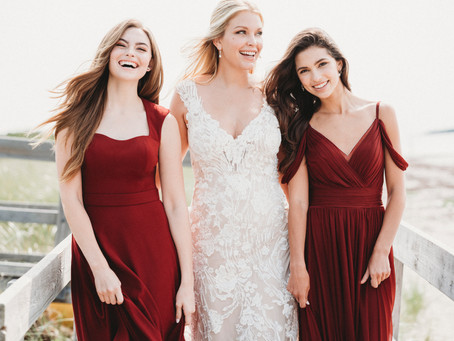 Questions Answered:  When to start shopping for bridesmaids dresses.