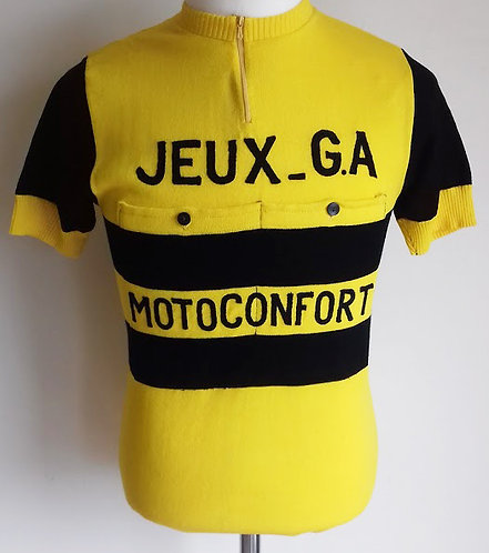 Maillot cycliste vintage Jeux G.A Motoconfort