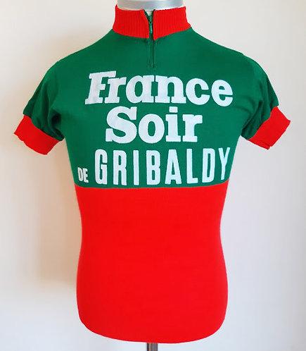 Maillot cycliste vintage France Soir de Gribaldy