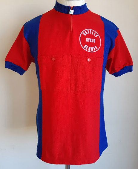 Maillot cycliste vintage Cyclo Gazelec Rennes