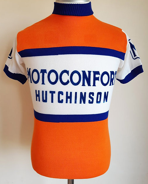 Maillot cycliste vintage Motoconfort Hutchinson