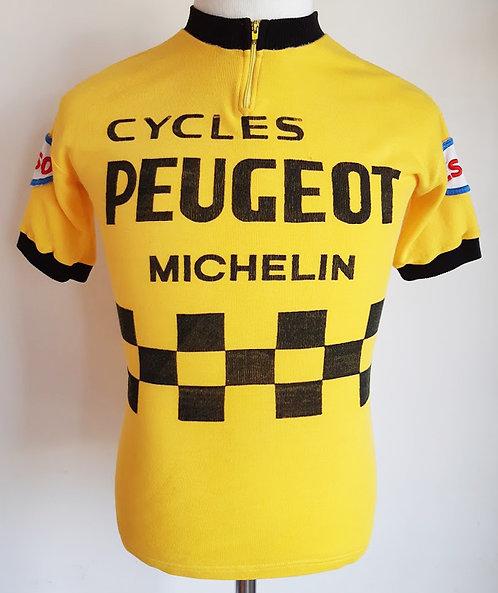 Maillot cycliste vintage Peugeot Esso Michelin