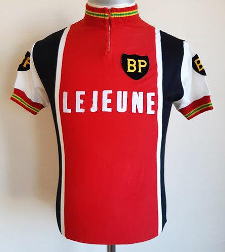 Maillot cycliste vintage BP Lejeune 1976