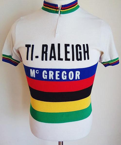Maillot cycliste Ti-Raleigh Mc Gregor Champion du Monde 1979