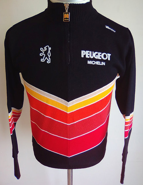 Pull cycliste vintage Peugeot Michelin