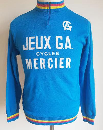 Maillot cycliste vintage Jeux G.A Cycles Mercier