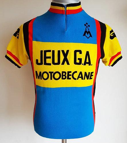 Maillot cycliste vintage Jeux G.A Motobécane