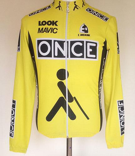Veste cycliste Once portée Erick Breukink