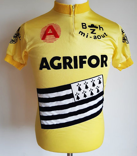 Maillot cycliste vintage course Mi-Août Bretonne