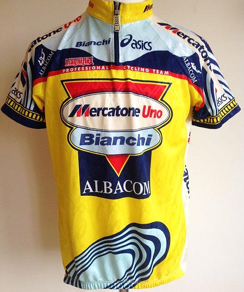Maillot cycliste Mercatone Uno Bianchi