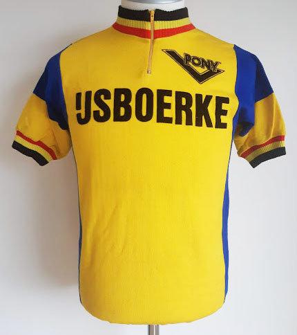 Maillot cycliste vintage Ijsboerke