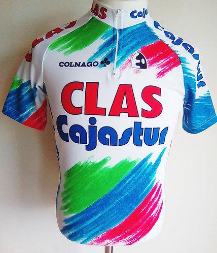 Maillot cycliste Clas Cajastur 1991