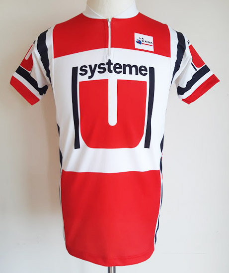 Maillot cycliste équipe Système U 1984