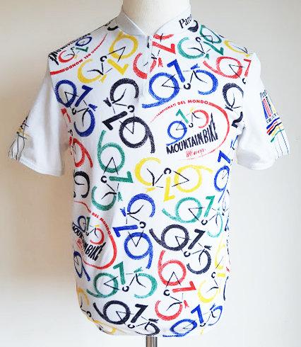 Maillot cycliste vintage Championnat du Monde de Mountain Bike