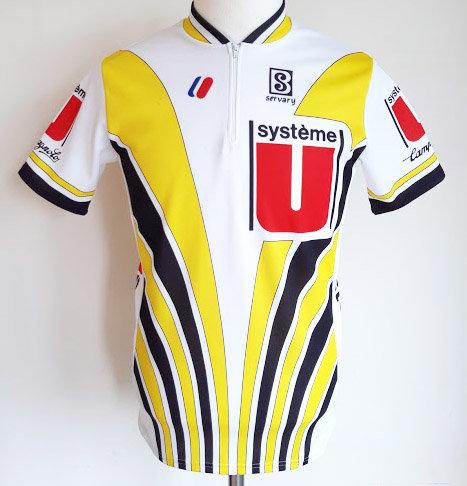 Maillot cycliste Système U 1987