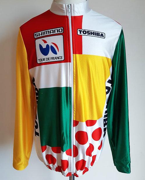 Veste cycliste vintage Clst. Combiné équipe Toshiba 1987