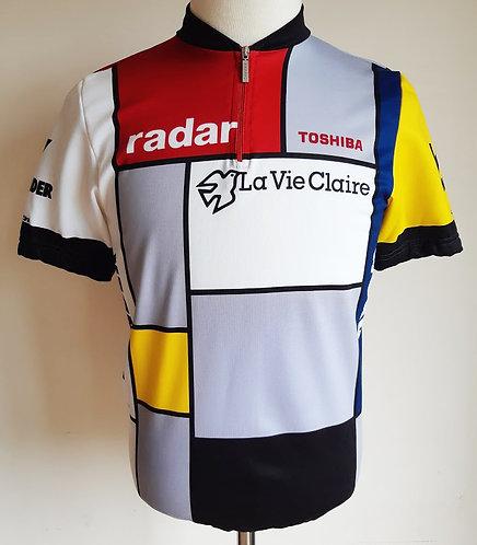 Maillot cycliste La Vie Claire Wonder Radar 1986