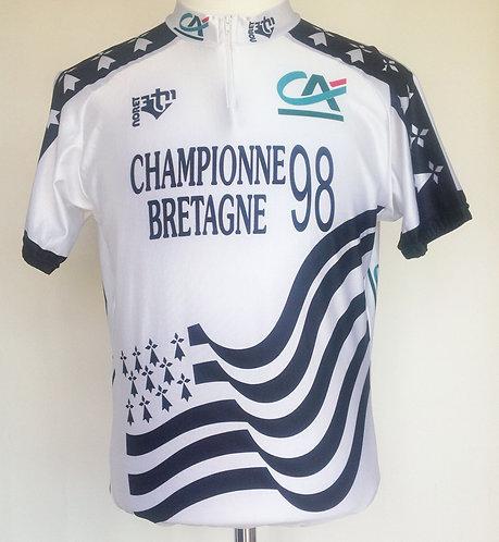 Maillot cycliste Championne de Bretagne 98