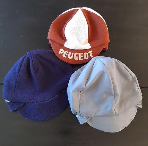3 casquettes cyclistes vintage