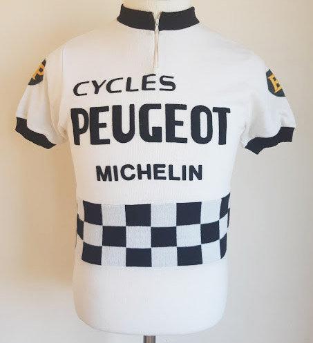 Maillot cycliste vintage Peugeot BP Michelin