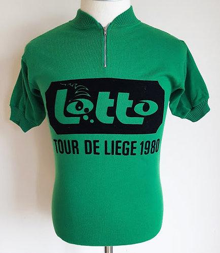 Maillot cycliste vintage Lotto Tour de Liège 1980