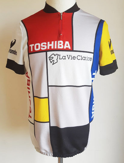 Maillot cycliste Toshiba Look La Vie Claire 1987